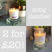 2 Candles for £20 | Natural Soy Candles 200g each