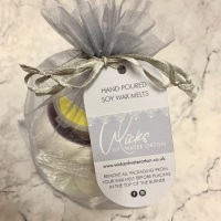 Purple Topped Small Wax Burner & 1 Soy Wax Melt Gift Set
