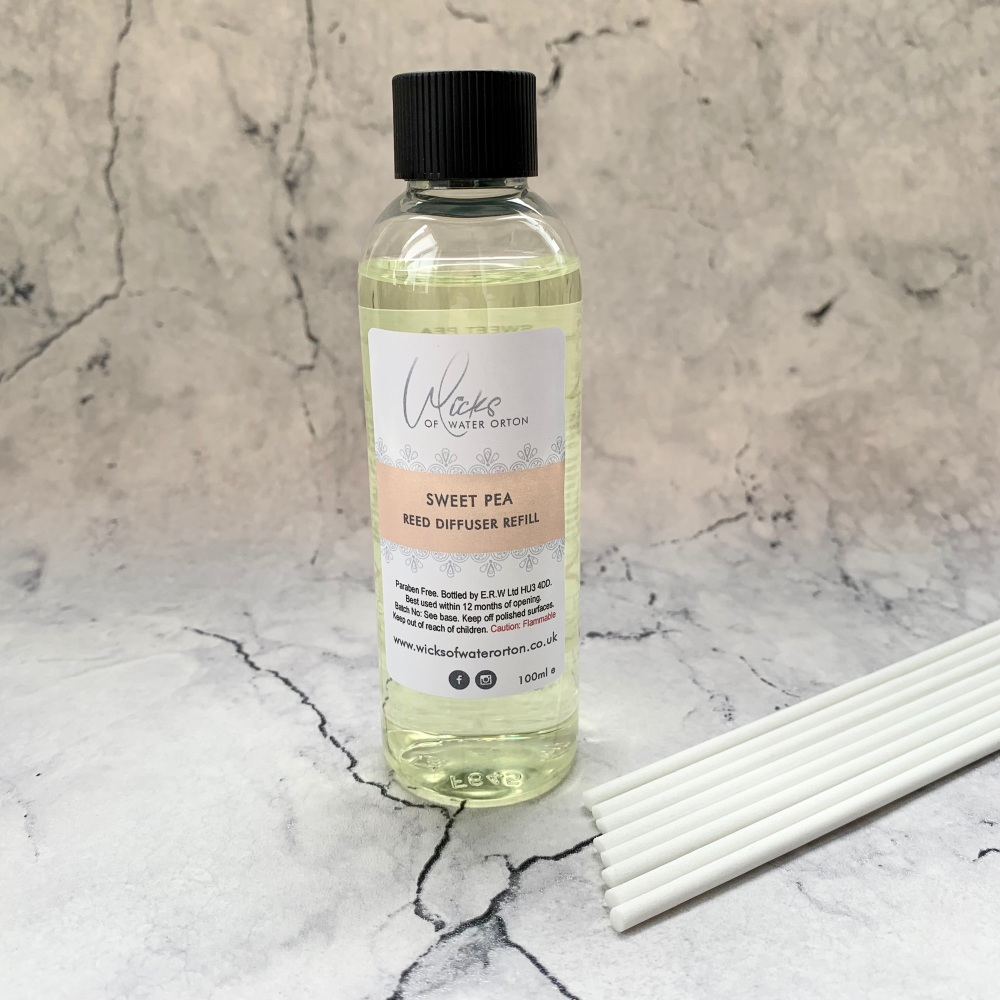 Sweet Pea Luxury Reed Diffuser REFILL