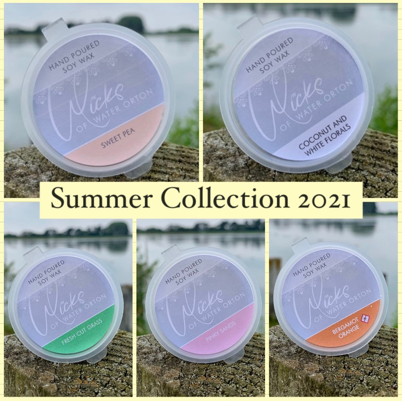 2021 Summer Collection   5 x Soy Wax Melt Pots