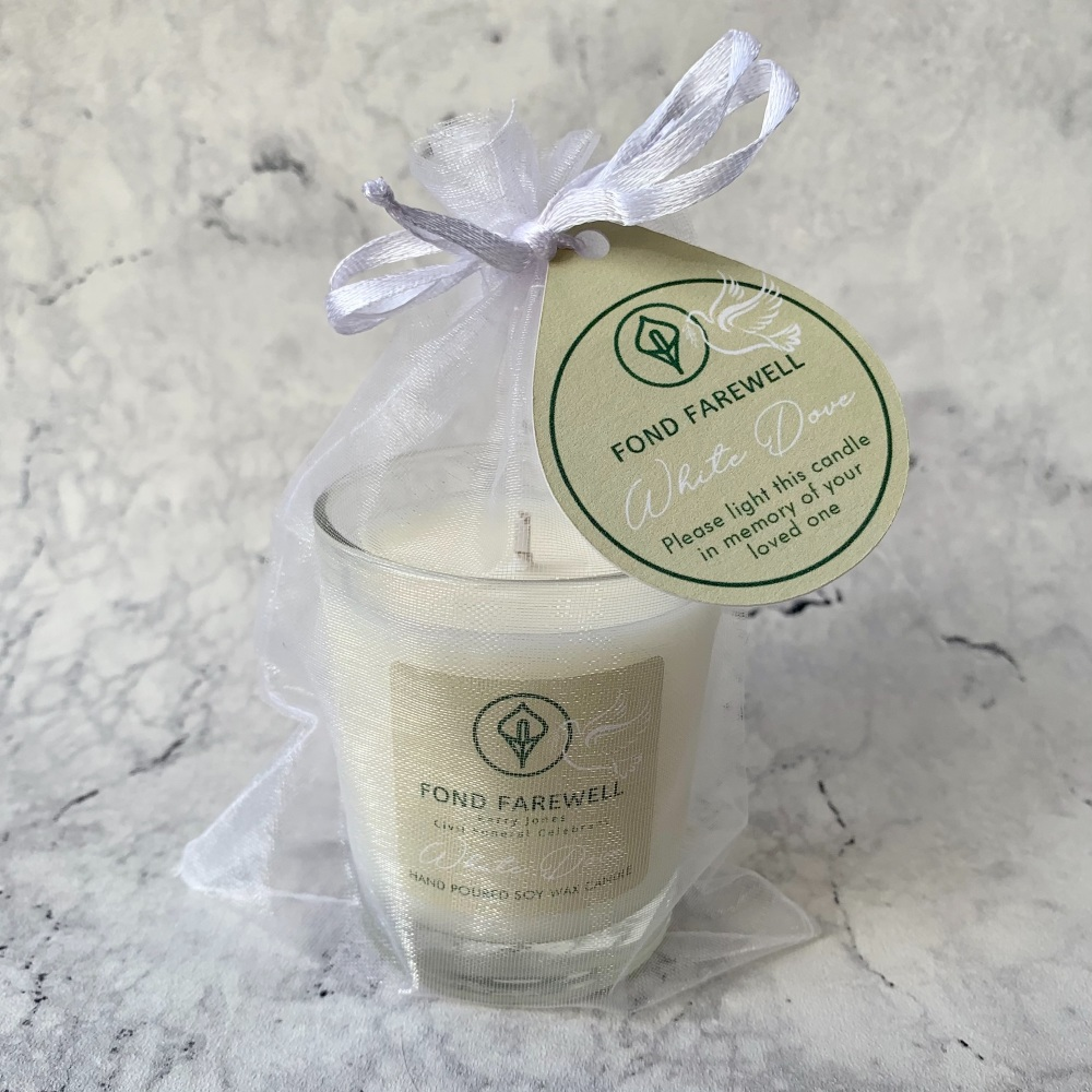 Branded & Personalised Soy Wax Small (Votive 75g) Candle (White Label / Who