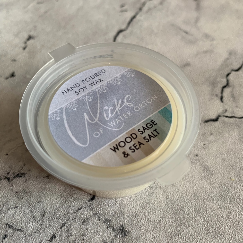 Wood Sage & Sea Salt Natural Soy Wax Melt Pot 20g (AUGUST 2021)