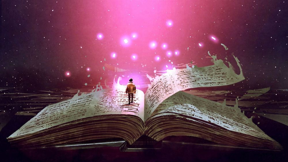 boy on magic book R