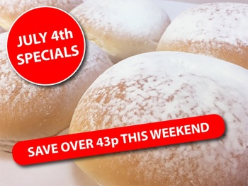 Independence Day White Floured Baps (Pack size 12)