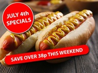 Independence Day White Finger Rolls (Pack size 12)