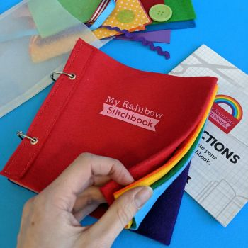 Learn-to-Sew Rainbow Stitchbook Kit