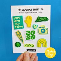 Felt Patch Set (You Are My Fave- Green and Yellow)