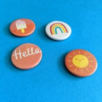Summer badge set