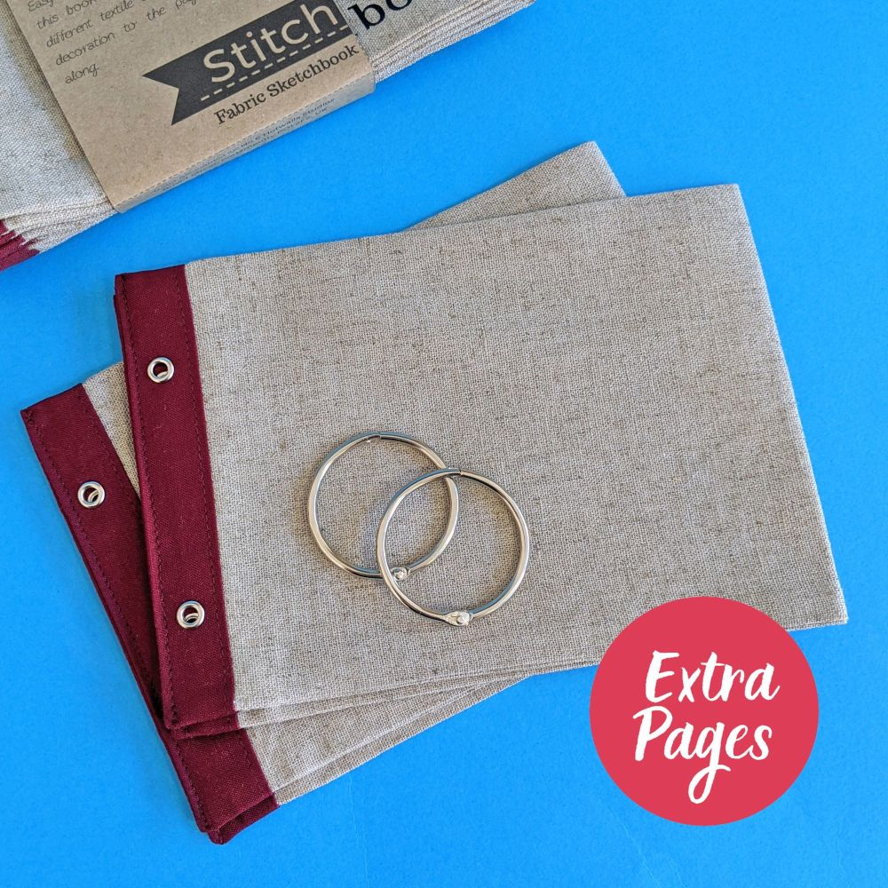 Extra pages for Linen and Wine Landscape Stitchbook