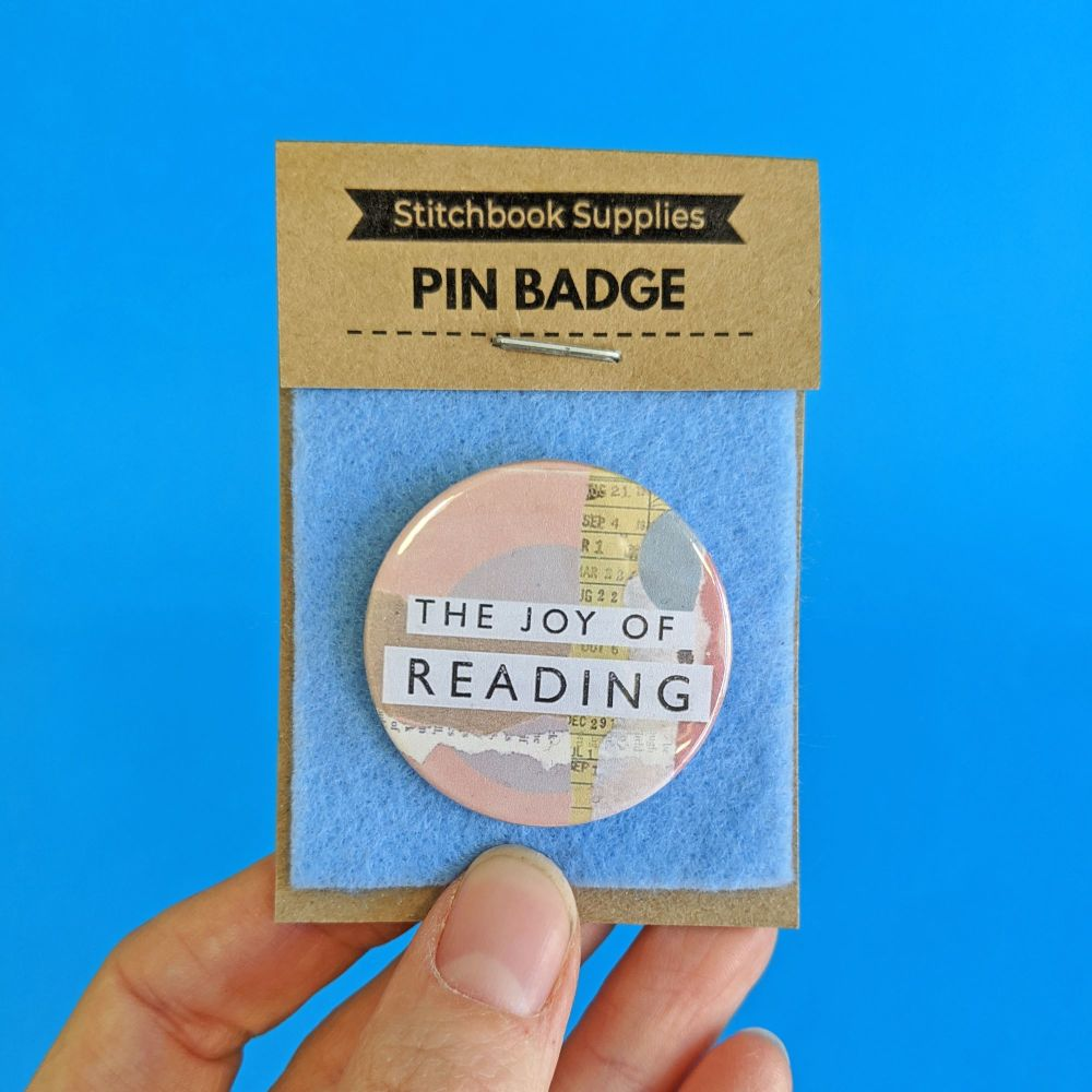 Pin Badge - The Joy of Reading