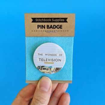 Pin Badge - The Wonder of Television
