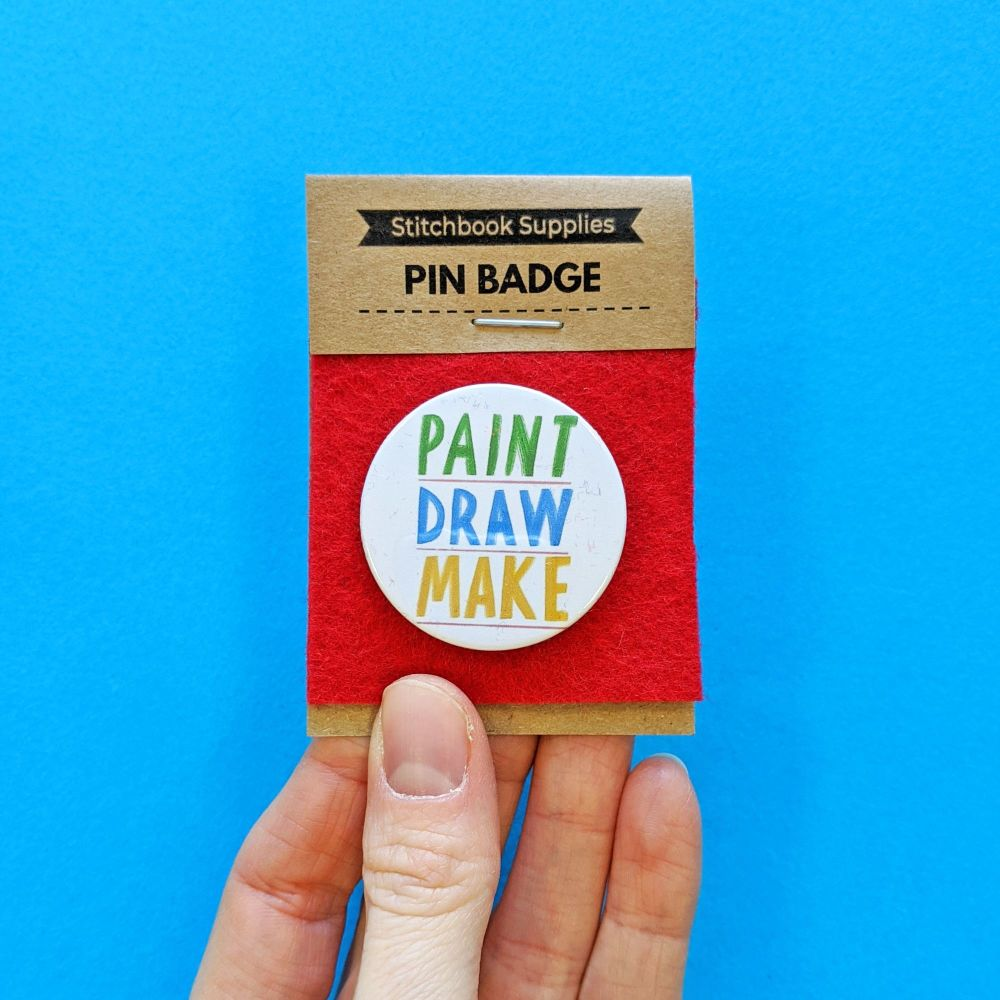 Pin Badge - Paint, Draw, Make