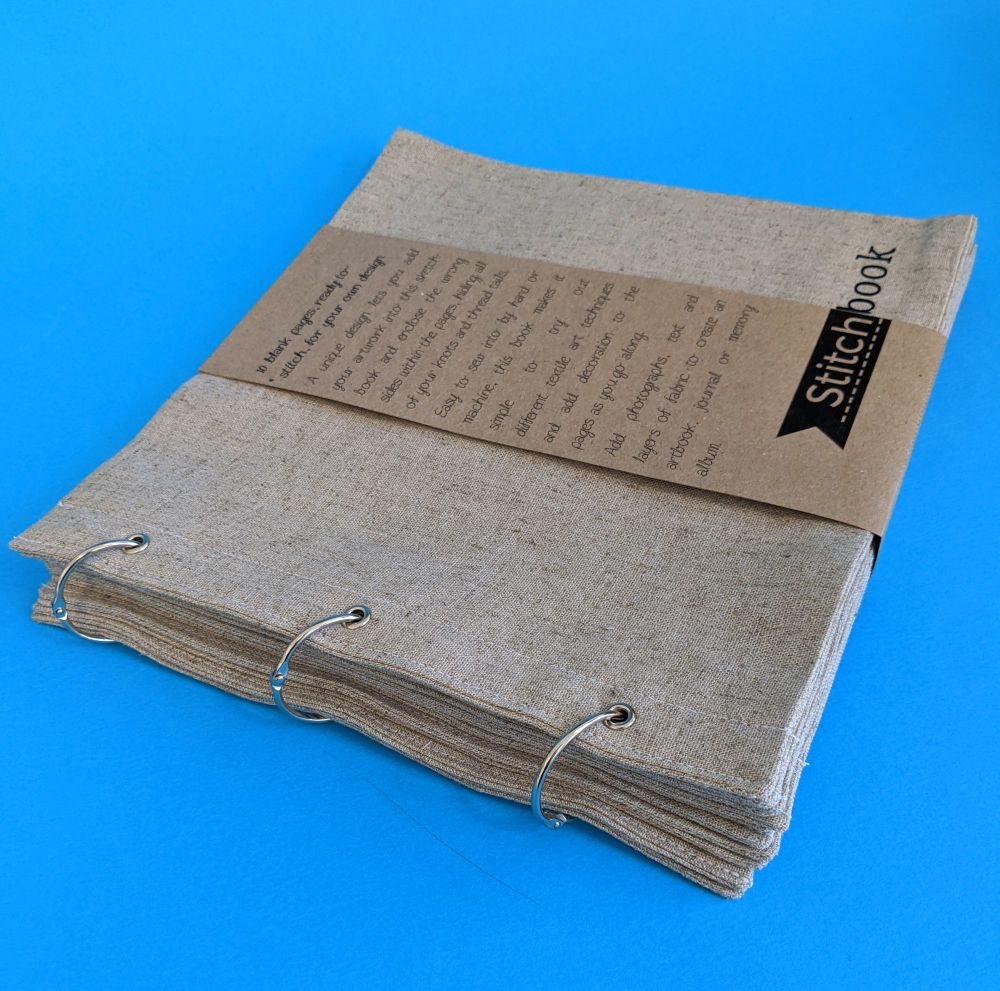 Large Linen Stitchbook - 12 blank pages