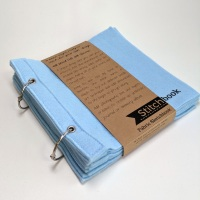 Blue Wool Felt Stitchbook