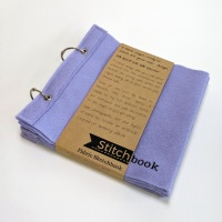Lilac Wool Felt Stitchbook