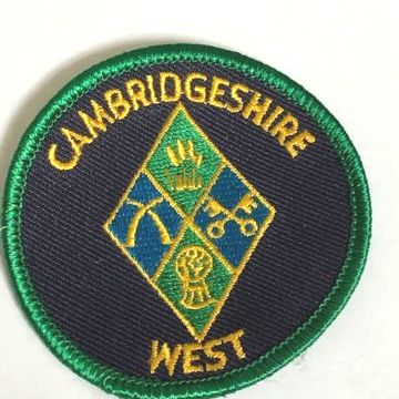 Cambs West sew on county round badge