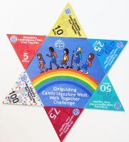 Full set of mileage badges, including center hexagon