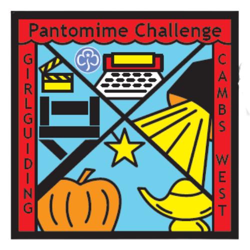 Panto Challenege badge