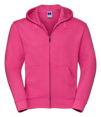 Fucshia zipped hooded sweatshirt