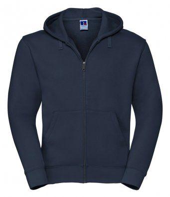 Navy zipped hooded sweatshirt