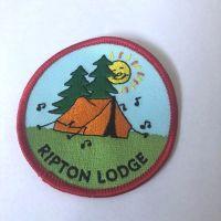 Vintage Ripton lodge badge Red edging