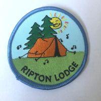 Vintage Ripton lodge badge Blue edging
