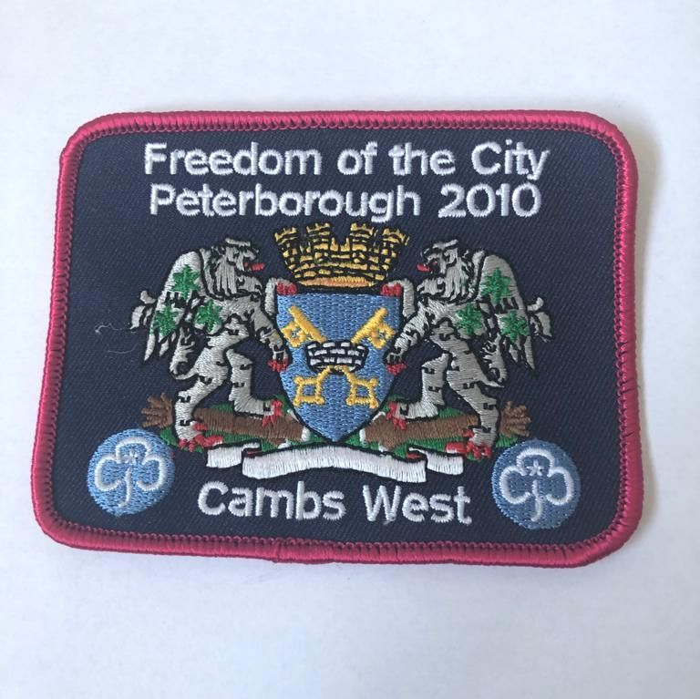 Freedom of Peterborough city badge 2010