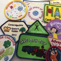 Mixed bag of 5 badges, surplus badges from Cambs West and Region