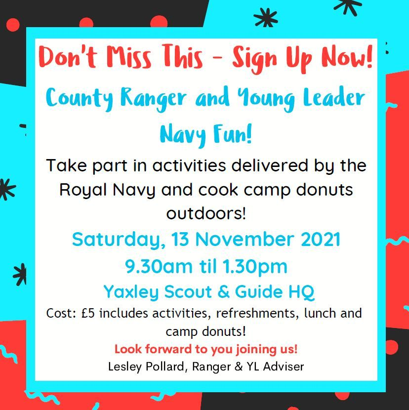 Rangers and Young Leaders Navy fun day - 13th Nov
