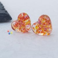 Tequila Stained Glass Love Heart Pair