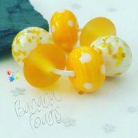 Banana Foams Trio Lampwork Beads