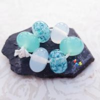 Iced Seas Trio Mix Lampwork Beads