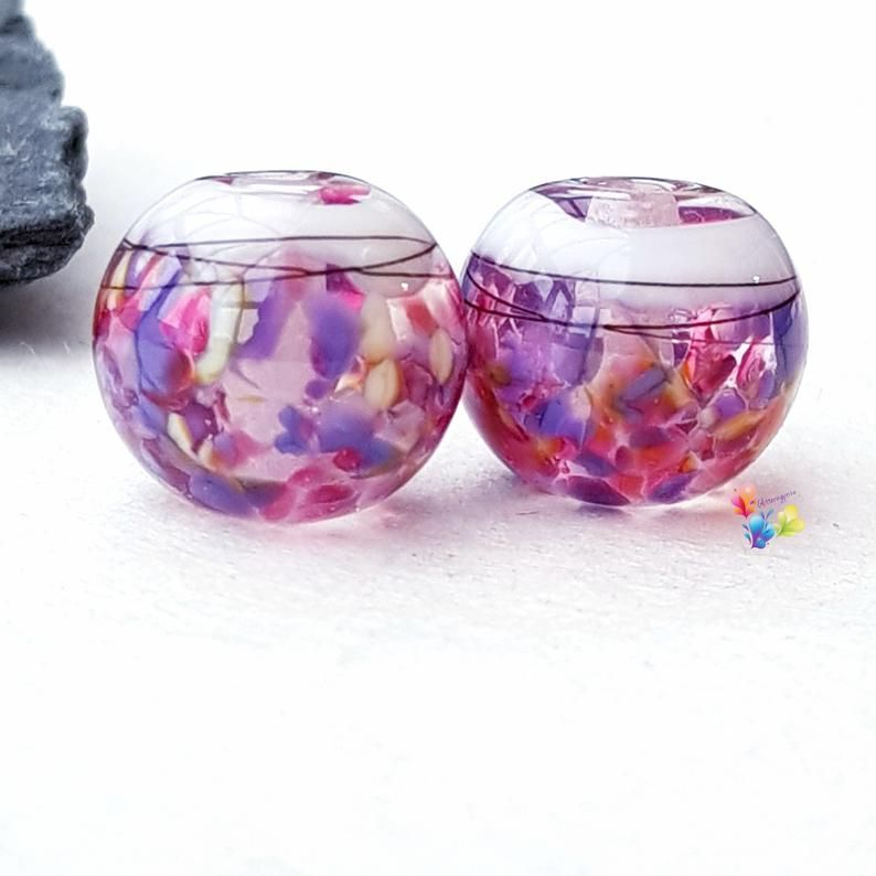 Fantasy Boho Globe Lampwork Beads