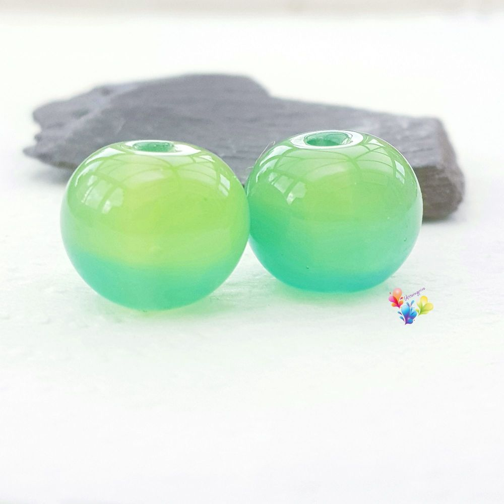 Love Surf Ombre  Lampwork Beads