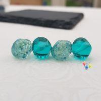 Zephrene & Aquamarine Nugget Lampwork Beads