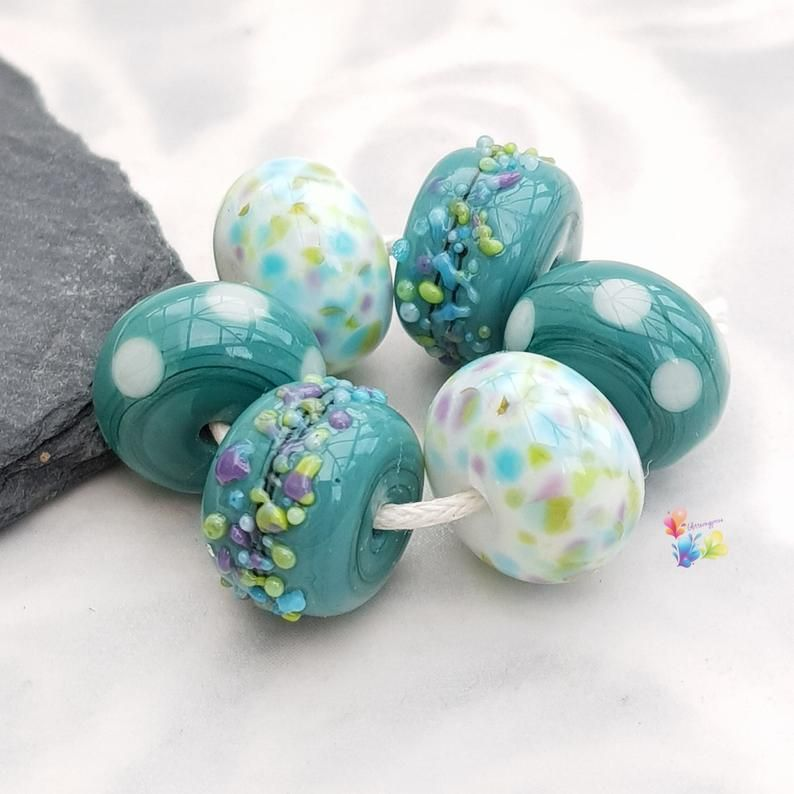 Cotswold Girls Trio of Lampwork Bead Pairs