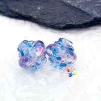 Baby Shower Lampwork Bead Spinner Pair