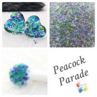 Peacock Parade  Fine Grind Frit Blend