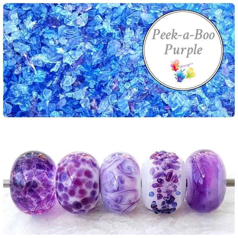 Peek A Boo Purple Fine Grind Frit Blend
