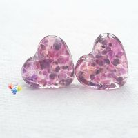 Summer Berry Cider Stained Glass Love Heart Pair