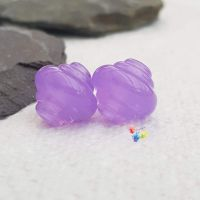 Crocus Lampwork Bead Spinner Pair