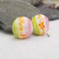 No.71 Boho Watercolour Glass Lampwork Beads