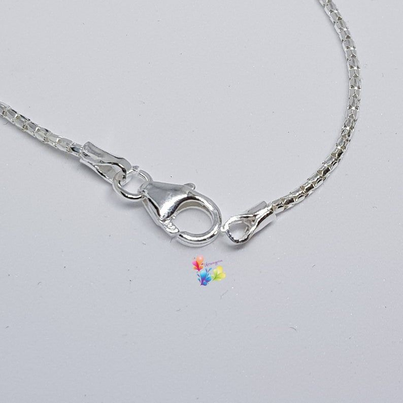Sterling silver Popcorn chain in a choice of lengths