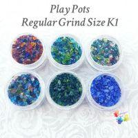 Six Lampwork Frit Regular Blends Play Pots