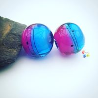 Royale Ombre Scribble Glass Lampwork Beads