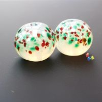 Misty Christmas  Lampwork Beads
