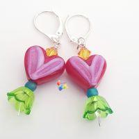 Caribbean Cupid Earrings Sterling Silver