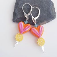 Caribbean Love Earrings Sterling Silver