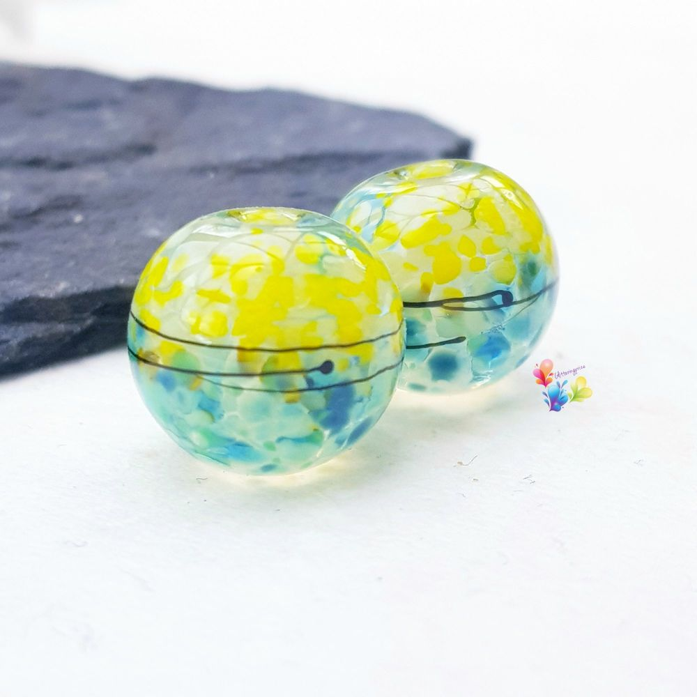 Coastal Breeze Lampwork Beads