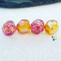 Tropical Golden Nugget Lampwork Bead Set